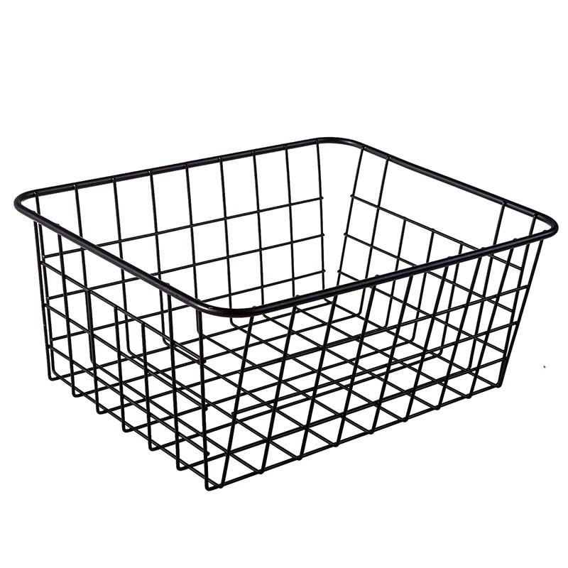Storage Boxes Lron Art Basket Bins Home Kitchen Bathroom Desktop Fruit Snacks Toiletries Clothes Finishing Box Makeup Organizer