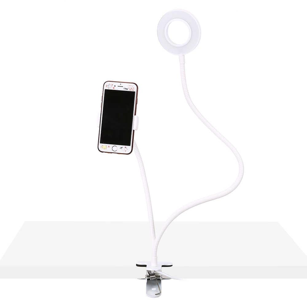 Селфи кольцо свет с держателем сотового телефона для живого потока и макияжа, светодиодный свет камеры Фото освещение с дужками для телефона Iphone