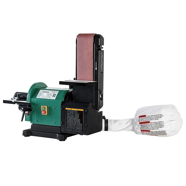 750 w 4X8 pouces papier abrasif ceinture machine S4800 broyeur automatique de collecte de poussière fonction