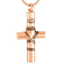 Ribbon Cross Urn Necklace