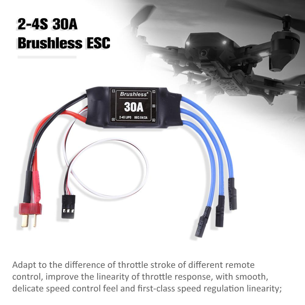 Image 4 - 4PCS 30A ESC 2 4S Lipo Brushless 30A ESC With 5V / 2A BEC For S500 X500 Quadcopter-in Parts & Accessories from Toys & Hobbies
