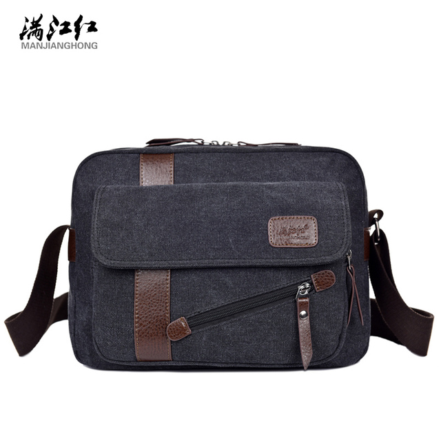 468b8ff529c5 Men s Fashion Canvas Business Travel Shoulder Bags Male Korean Style Messenger  Bags Briefcase Handbags Crossbody Bags