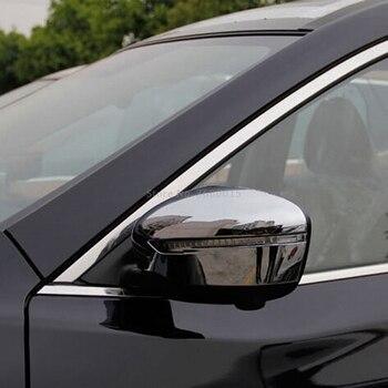 Per Nissan X-trail Rogue 2014-2016 2017 Car Styling Parti Ala Laterale Specchio Coperture Chrome Modanatura accessori esterni