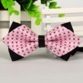 Apontou 6 cm pink bow tie gravatás homens dot bowties borboleta frete grátis borboleta em massa lote Por Atacado em massa do lote Por Atacado