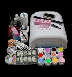 جديد برو كامل 36 واط الأبيض علاج مصباح مجفف و 12 لون UV هلام مسمار أدوات الرسم مجموعات أطقم BTT-90