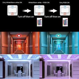 Image 5 - Plafonnier Ultra mince en acrylique, éclairage de plafond, montage en Surface, éclairage de plafond sur panneau, LED couleurs RGBW RGBW/ww, avec télécommande RGB, LED, AC85 265V
