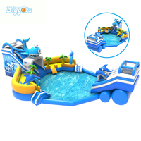 Water Slide Inflatable Water Park With Water Pool Inflatable Water Game