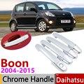 Для Daihatsu Boon Sirion M300 2004 ~ 2015 хромированные дверные ручки крышки наклейки на автомобиль отделка Набор 2005 2007 2009 2011 2013 2014