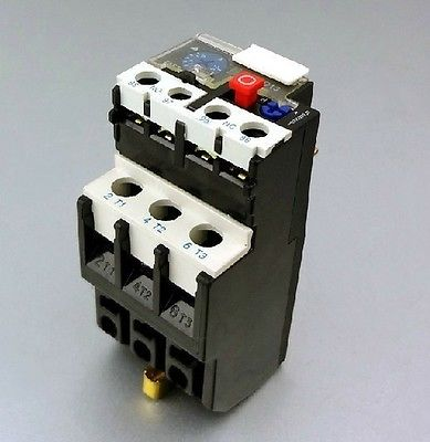 цена на 0.1A-25A Current Rating 1NO 1NC Thermal Overload Relay max 660V 50/60Hz