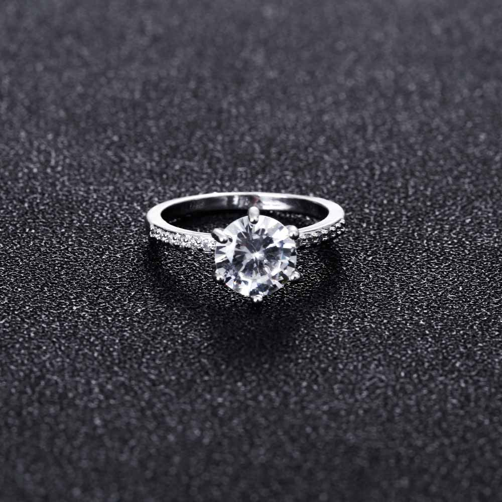 KISS WIFE Classic Engagement Ring 6 Claws Design AAA White Cubic Zircon Female Women Wedding Band CZ Rings Jewelry 4