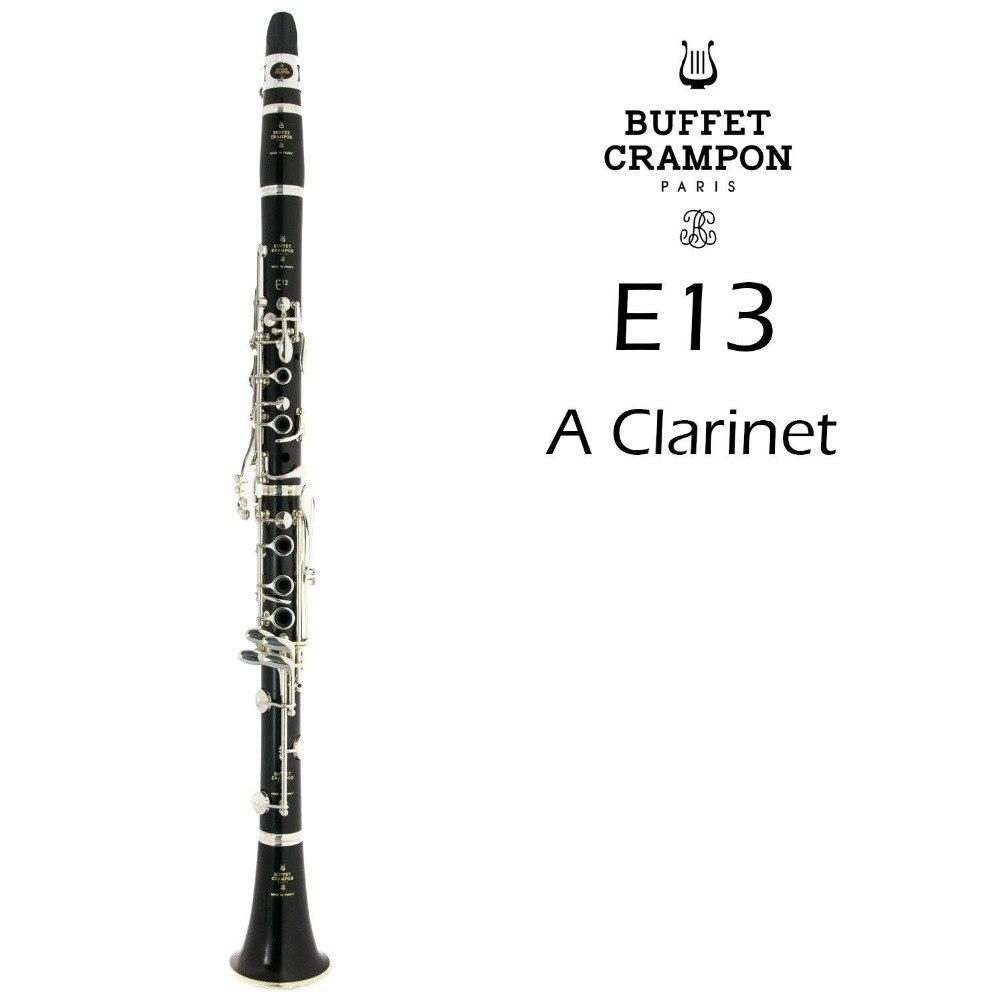 Nouveau Buffet Crampon E13 A Tune clarinette haute qualité matériau bois corps Instruments de musique 17 clés clarinette avec embout