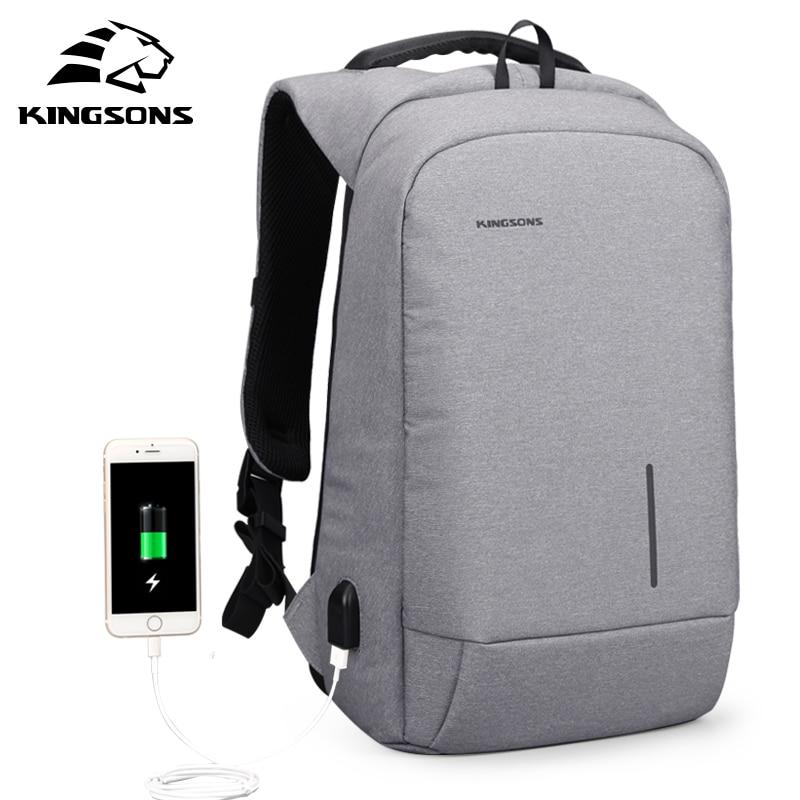 Kingsons KS3149W 13 15 USB Charging Backapcks School Backpack Bag Laptop Computer Bags Men s Women