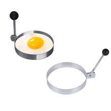 Baking tools circle hamburger omelette device stainless steel