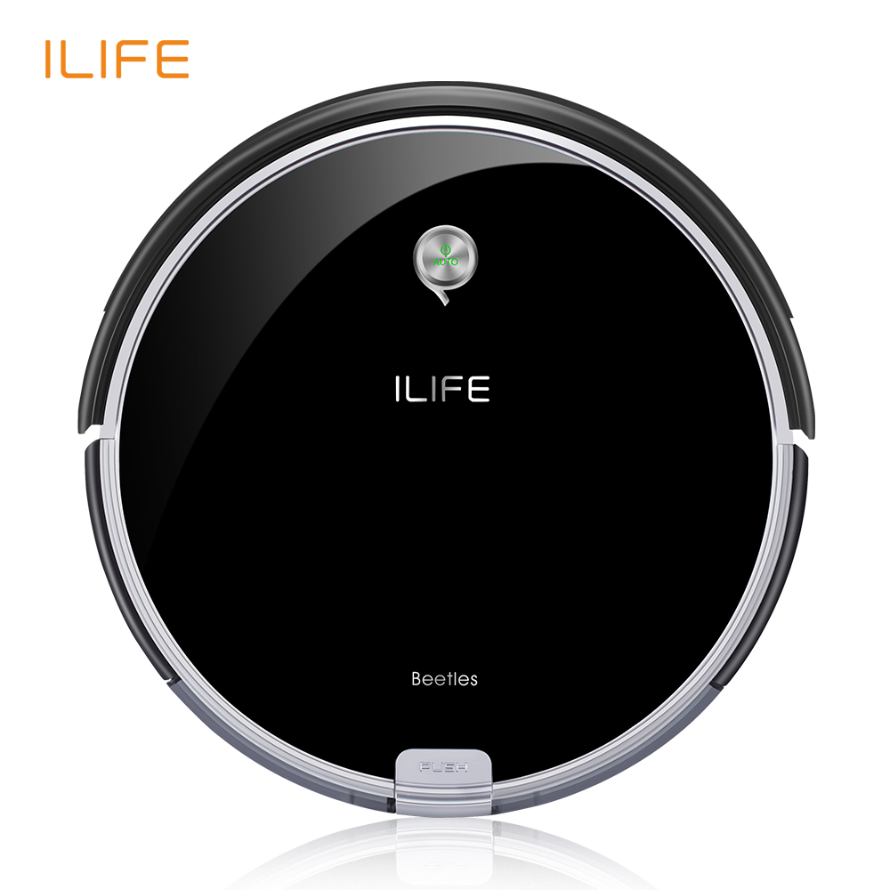 ILIFE A6 Robotic Vacuum Cleaner con Pianoforte Nero