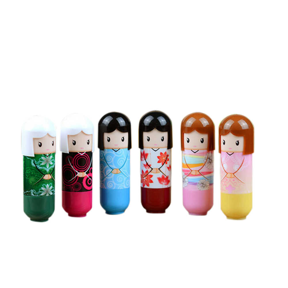 1 Pza impermeable bálsamo labial líquido hidratante lápiz labial brillo labios lindo Kimono muñeca lápiz labial maquillaje al azar