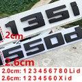 Самодельная матовая черная для BMW M M1 M2 M3 M4 M5 M6 X1M X2M X3M X4M X5M X6M M550d M50i M135i M240i M335d Эмблема для багажника автомобиля