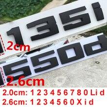 DIY Matte Black for BMW M M1 M2 M3 M4 M5 M6 X1M X2M X3M X4M X5M X6M M550d M50i M135i M240i M335d Emblem Car Trunk Badge Sticker