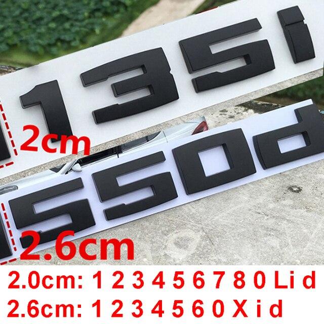 DIY Matte Schwarz für BMW M M1 M2 M3 M4 M5 M6 X1M X2M X3M X4M X5M X6M M550d M50i m135i M240i M335d Emblem Auto Stamm Abzeichen Aufkleber