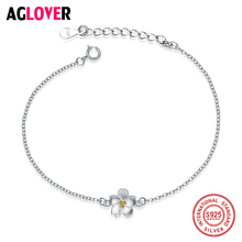 Aesthetic Romantic 925 Sterling Silver Jewelry Women Fashion Small Fresh Cherry Flower High-quality Female Bracelet