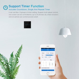 Image 5 - Wifi Touch Switch 1/2/3 Gang Samrt Switch Panel Wireless Intelligence Timing&Remote Control APP Work with Alexa Google Home