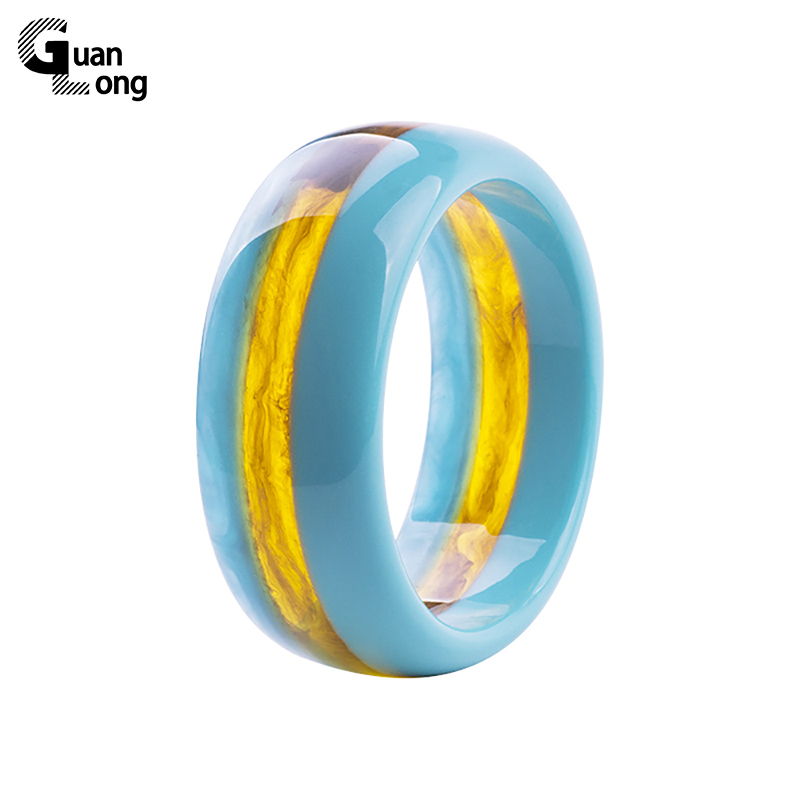 Beautiful Natural Anime Bangle Resin Crafts Jewelry For Women 2017 Fashion Bijoux Gifts 6 Colors Available