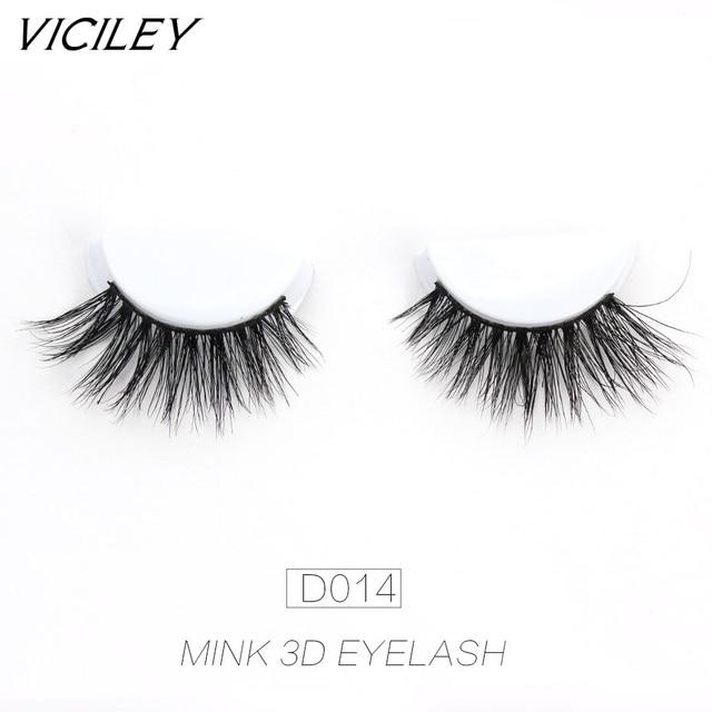 05b7abfc9e8 VICILEY Mink eyelashes Handmade false eyelashes mink cilios soft lashes  natural fake Eye Extension makeup -D014