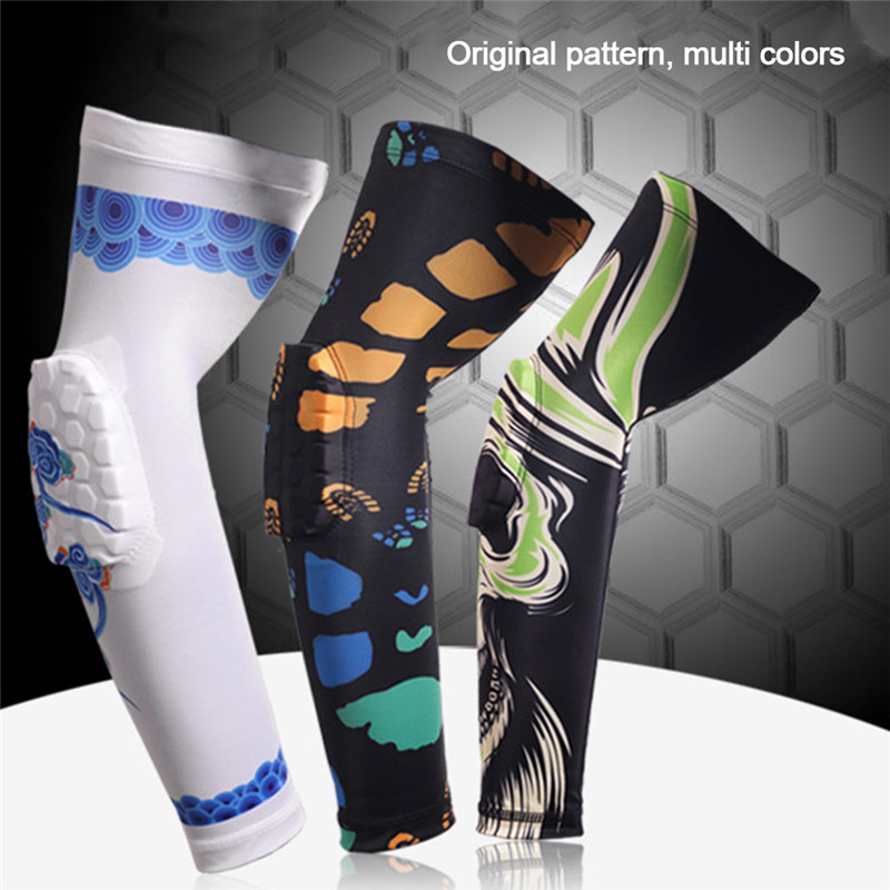 1Pcs Classic Honeycomb Padded Knee Brace Sports Safety Basketball Kneepad Compression Knee Sleeve Protector Knee Pads