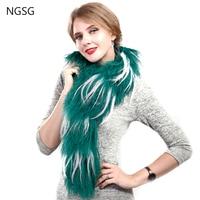 NGSG Tibetan Sheepskin Fur Scarf For Women S Down Jacket Beach Sheep Woolen Collar Mongolian Green