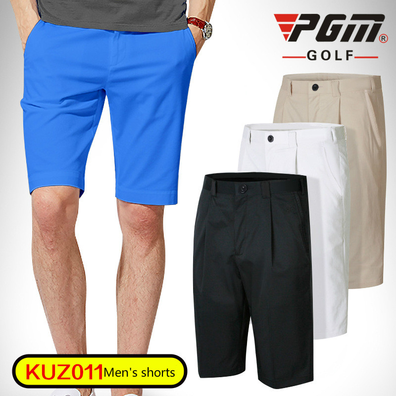 PGM Men Golf Shorts Summer Quick Dry Golf Sports Knee Length Shorts for Men Breathable Male Golf Shorts Plus Size 2XS-3XL