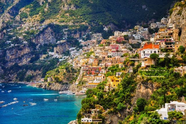 Amalfi coast Salerno gulf Positano Italy PMB203 wall art fabric