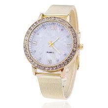 Watch Women Clock Fashion Diamond Stainless Steel Generously Quartz Noble High Quality Wrist Watch Temperament Comfortable C5