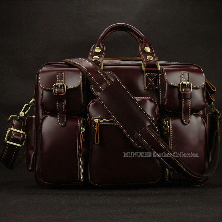 Luxury Genuine Leather Men Travel Bags Luggage Bag Large Duffle Weekend Overnight Tote M038 In From