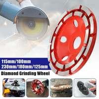 Drillpr 100/115/125/180/230mm Zweireihig Diamant Schleifen Rad Disc Schüssel Form Schleifen tasse Beton Granit Stein Keramik Werkzeug
