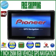 7″ Spain Car truck vehicle GPS Navigation navigator MTK CE 6.0 800Mhz FM DDR3 256M 8GB CE6.0 navitel/espanol/Europe/USA/spanish