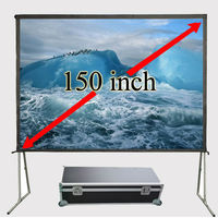New HD 150 inch Projector Screen 4:3 Fast Fold Front Projection Screens With Strong Frame Portable Carry Case For Outdoor