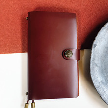 Endless Magic M Medium Real Genuine Cowhide Leather Travel Journal Business Notebook Study Diary Blank Lined Grid Papers