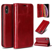 LUCKBUY for iPhone X XS XR XS Max First Layer Cowhide Genuine Leather Phone case for iPhone 6 6S 7 8 Plus for Men Women 'S Case