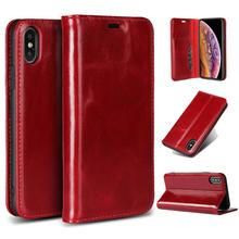 LUCKBUY for iPhone X XS XR Max First Layer Cowhide Genuine Leather Phone case  6 6S 7 8 Plus Men Women S Case