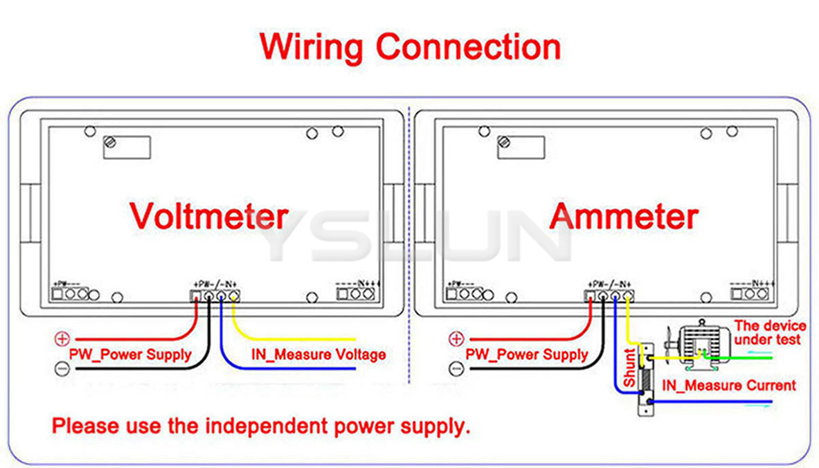 Hooking Up Voltmeter And Devices : Dc ammeter shunt wiring diagram lcr meter