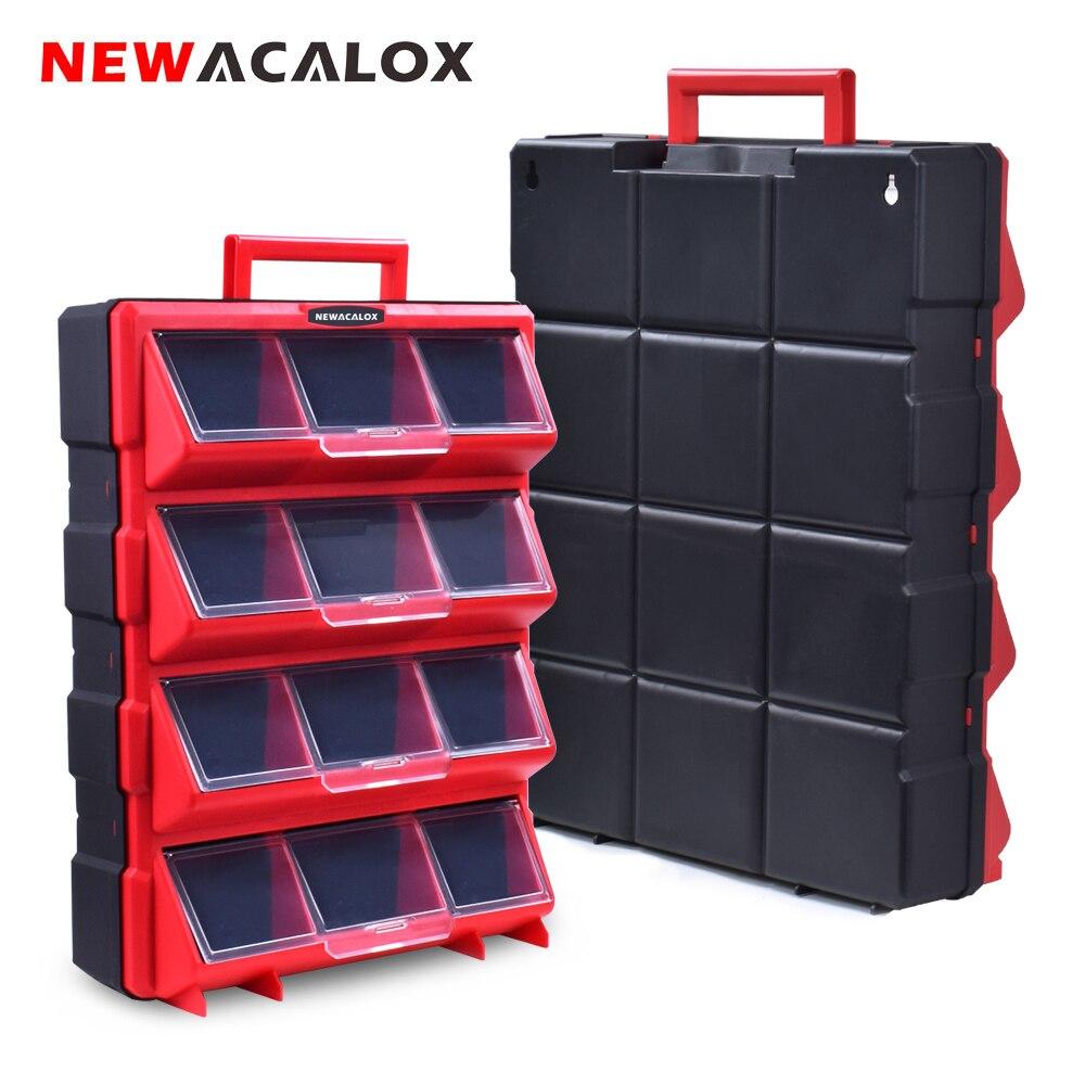 NEWACALOX Multi-Função Grande Tipo Organizador Caixa De Armazenamento com Gaveta Hardware Casa Caixa De Ferramentas Para A Reparação de Acessórios Toolcase