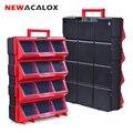 NEWACALOX Multi-Funktion Große Hardware Lagerung Box mit Schublade Typ Organizer Haushalts Toolbox Für Reparatur Zubehör Werkzeugkoffer