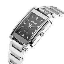 Longbo marca hombres mujeres breve ocasional de cristal de cuarzo relojes de marca de lujo de reloj de cuarzo relogio feminino montre femme 9105