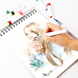 Image 5 - Superior Premium 12/24 colores marcadores de brillo Brush Pen rotulador de arte Wink of Stella Soft Brush Pen para brillo de chispa a letra
