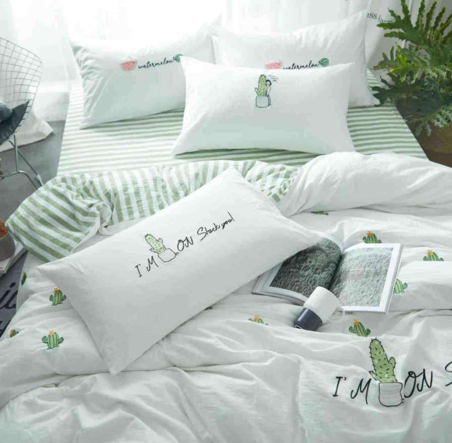 green cacti single double bedding set adult teen kidcotton twin full queen king home
