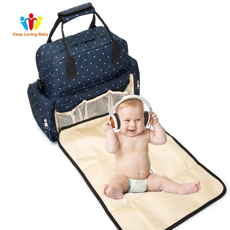 Mummy Maternity Nappy Bag Large Capacity Nappy Bag  Urine Lying Travel Backpack Nursing Bag For Baby Care Women's Fashion Bag
