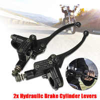 """Universal 7/8"""" Motorcycle 10mm Brake Master Cylinder Clutch Levers For 125cc ATV Motorcross"""