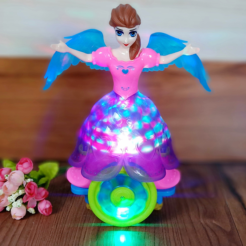 Electric Dancing Princess Colorful LED Lights Wonderful Music Doll Kids Girl Toy
