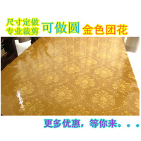 Dining table mat soft glass plastic table cloth tablecloth gold medallion crystal print pad table mats waterproof disposable