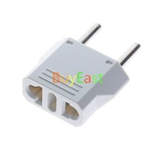 цены Free Ship 12 PCS EU CEE 7/16 Type C Power Plug Adapter Change US, Swiss,Italy Plug White Color