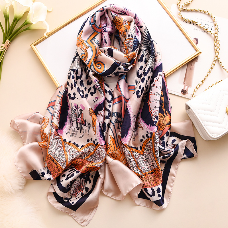 2020new Silk Scarf Women Luxury Brand Winter Scarves Fashion Print Shawls And Wraps Ladies Christmas Gift Long Large Hijab Femme